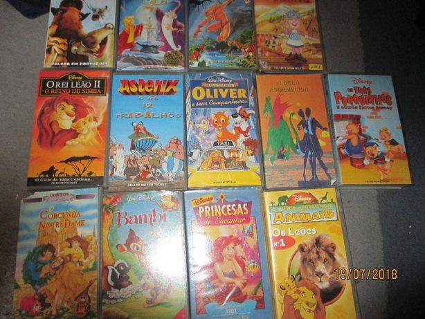26 cassetes VHS - Desenhos animados