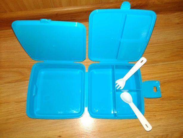 бутербродница ланч-бокс для перекуса или обеда на защелке
