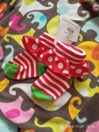 Носочки носки 0-12 новий рік новый год свято праздник