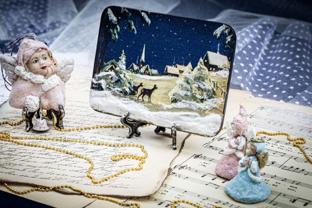 Панно Рождественская ночь украшение декор сувенир подарок Мелитополь - изображение 1