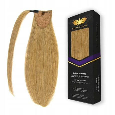 Kucyk kitka włosy naturalne 50 cm Dopinka Treska clip in KUC