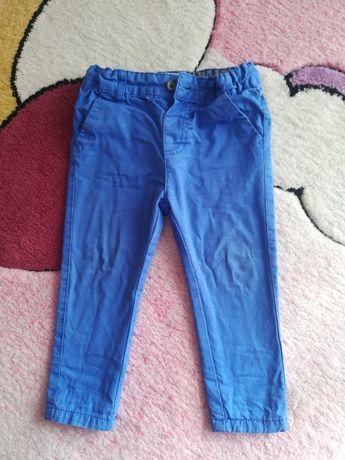 Spodnie chinosy niebieskie Rebel rozm 92