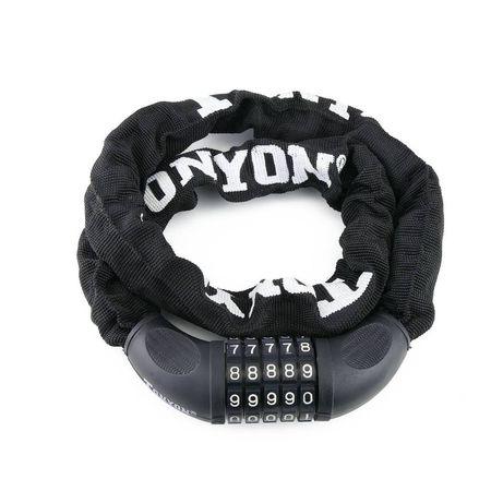 Cadeado em aço anti-roubo com código para bicicleta 19x900 mm com