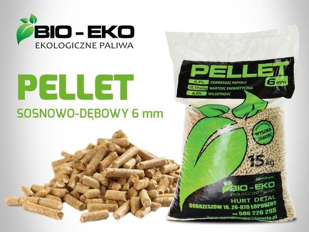 Pellet Pelet Hurt Detal Bio-Eko 6mm drzewny pakowany 15 kg GRATIS