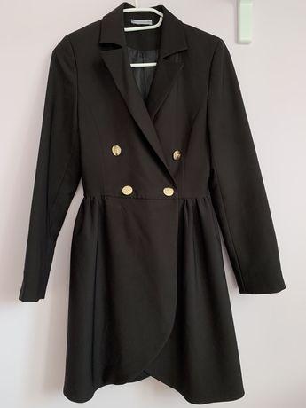 Czarna marynarkowa sukienka Marsala XS