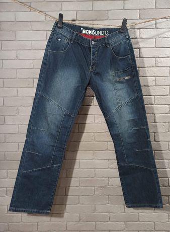 Jeansy ECKO unltd spodnie jeans retro szerokie FUBU 90s rocawear