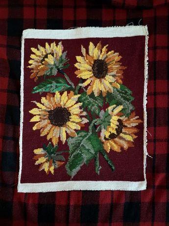 obraz wyszywany krzyżykami haft krzyżykowy słoneczniki obrazek kanwa