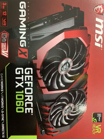 Видеокарта geforce gtx1060 3 gb gaming x нова 2шт