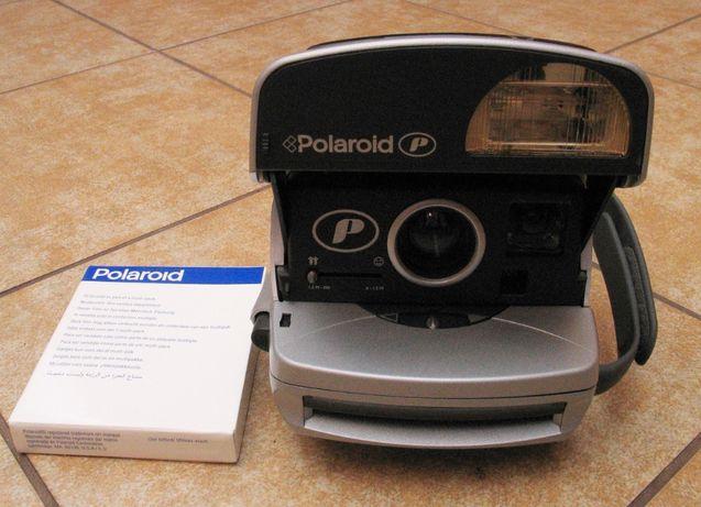 SPRAWNY Srebrny Metalik Aparat Polaroid 600 P + film typ 600