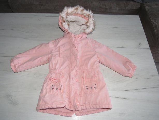kurtka dla dziewczynki 80 jesienno zimowa