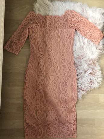 Koronkowa sukienka hiszpanka Next