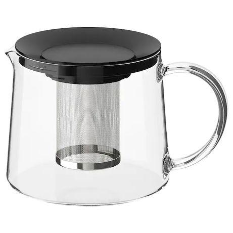 Чайник заварочный 1,5л IKEA стеклянный заварник