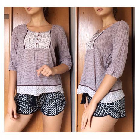 Хлопковая женская блузка рубашка