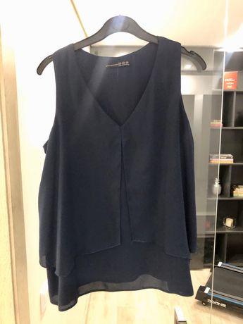Blusa azul marinho