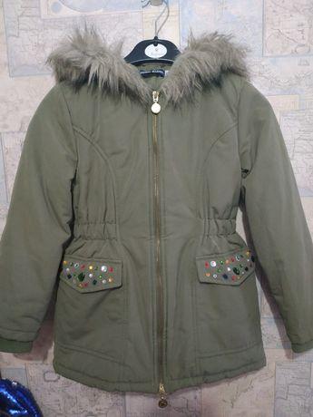 Куртка-парка Италия девочковая р.128-134