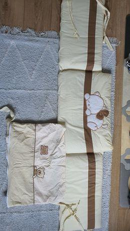 Pokrowiec ochraniacz na łóżeczko dla niemowlaka noworodka beż