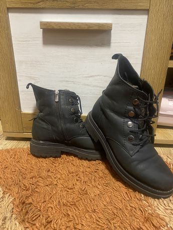 Зимние ботинки натуральная кожа, 39-40 р