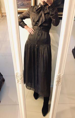 Sukienka Zara wzory z paskiem