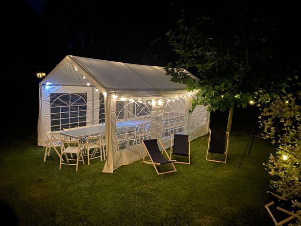 Wynajem namiot imprezowy 3x6, krzesła, stoły , dmuchańce  Poznań