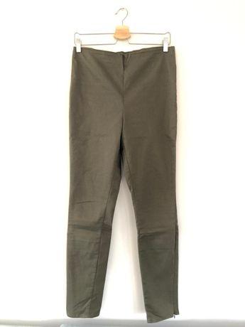 Długie spodnie / rurki khaki rozmiar 42 H&M