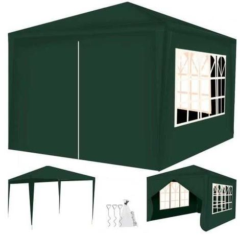 Pawilon Ogrodowy Handlowy Namiot + 4 Ścianki 3x3m