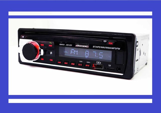 Автомагнитола Pioneer JSD-521 БЛЮТУЗ+2xUSB+microSD+AUX