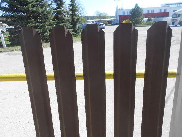 sztacheta metalowa, płot, ogrodzenie