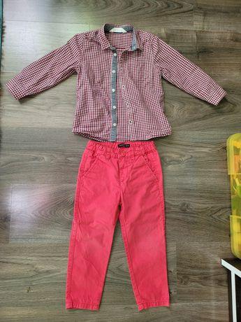 Elegancki komplet koszula h&m spodnie Reserved r. 98/104
