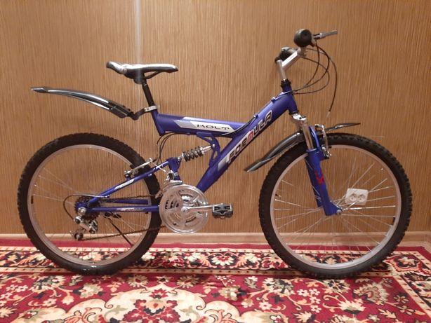 Велосипед горный спортивный прогулочный двухподвес подростковый 24
