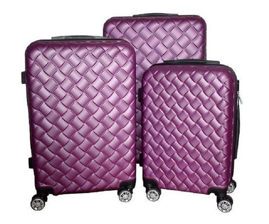 Zestaw walizek set walizki podróżne mulano fioletowe M L XL 1407