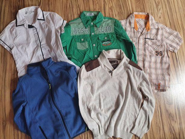 Zestaw dla chłopca koszula sweter polar 8-9lat r. 128 134 Rebel Quech