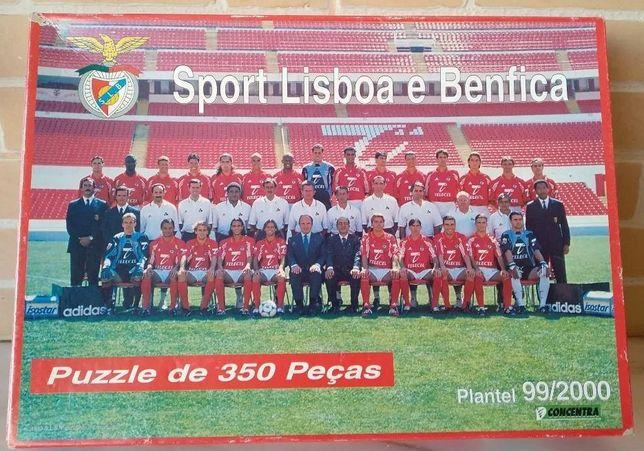 Puzzle do Benfica (350 peças) plantel época 99/00