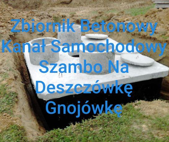 Zbiornik 13m3 Betonowy Kanał Samochodowy Szambo Na Deszczówkę Gnojówkę