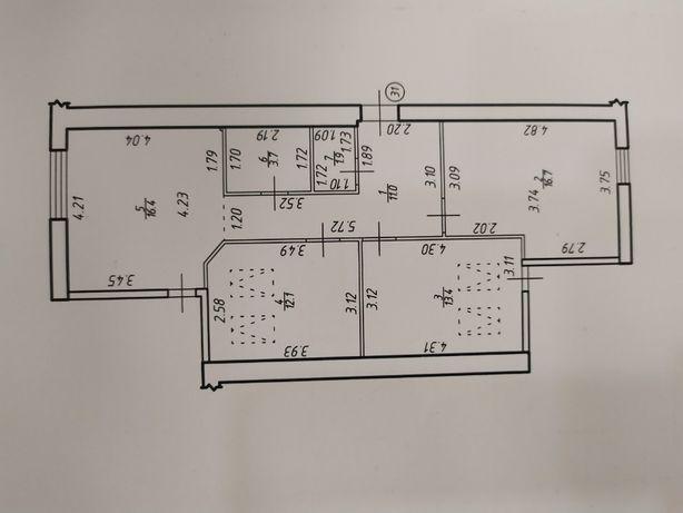 Здана 3-кімнатна в центрі міста за доступноюціною-21500$