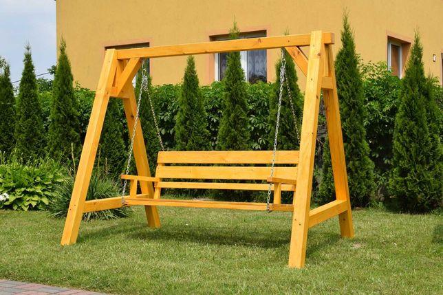 Huśtawka ogrodowa, drewniana