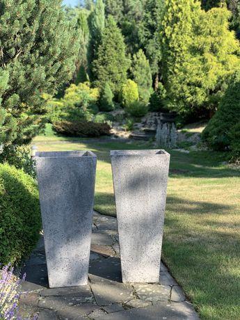 Donice 2 szt -   duża szara betonowa ciężka