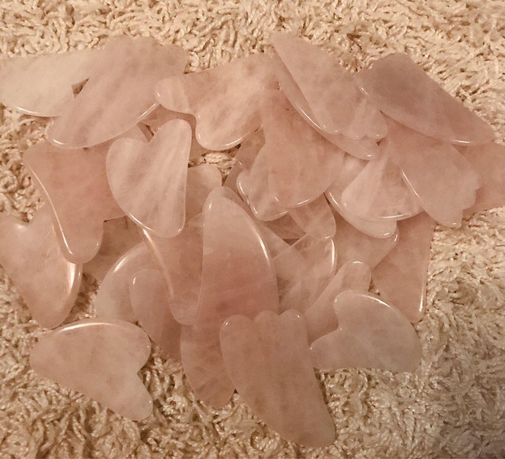 Скребок ГуаШа - Розовый Кварц