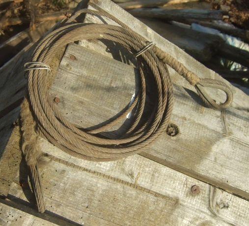 Стальной трос 5 мм, длина 5,2 метра