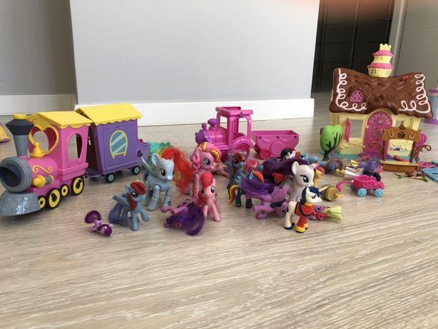 Pociag, domek, acesoria, koniki My little Pony