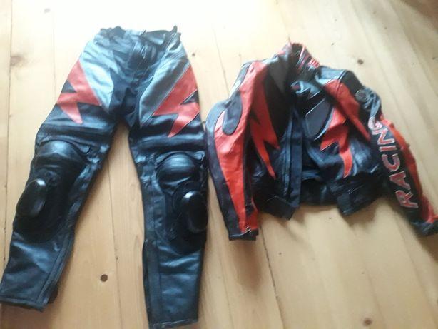 Kevlar -kurtka i spodnie skóra na motor, quad, cross