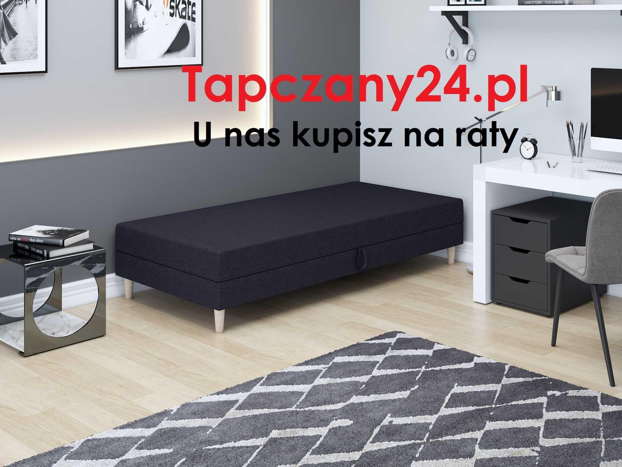 Łóżko jednoosobowe do pokoju młodzieżowego skandynawski styl +pojemnik