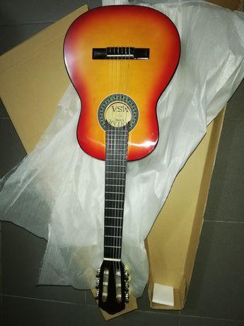 Guitarra castanha sunburst 1/4 para crianças