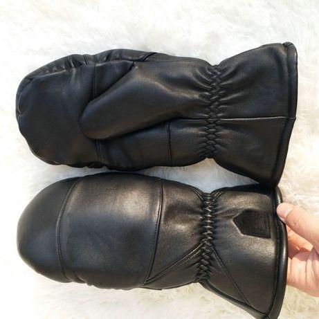Перчатки варежки рукавицы кожаные мужские женские