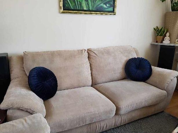 Komplet wypoczynkowy mebli do salonu, kanapa + 2 fotele