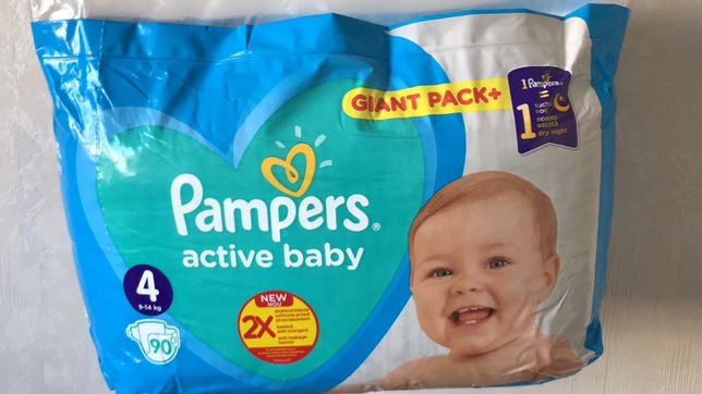 Pampers Active baby Mega pack синие 3/104, 4/90
