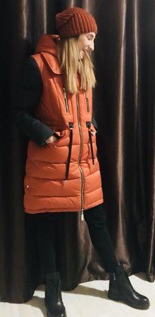 Срочно Зимняя куртка пуховик парка М