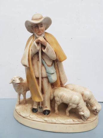 Старая фарфоровые статуэтка Пастух и овцы Германия первая половина 20в