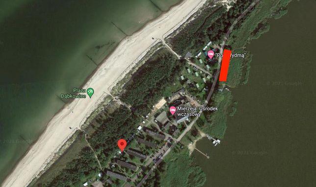 działka z linia brzegowa jeziora , 50 metrów do morza , pozwolenie bud
