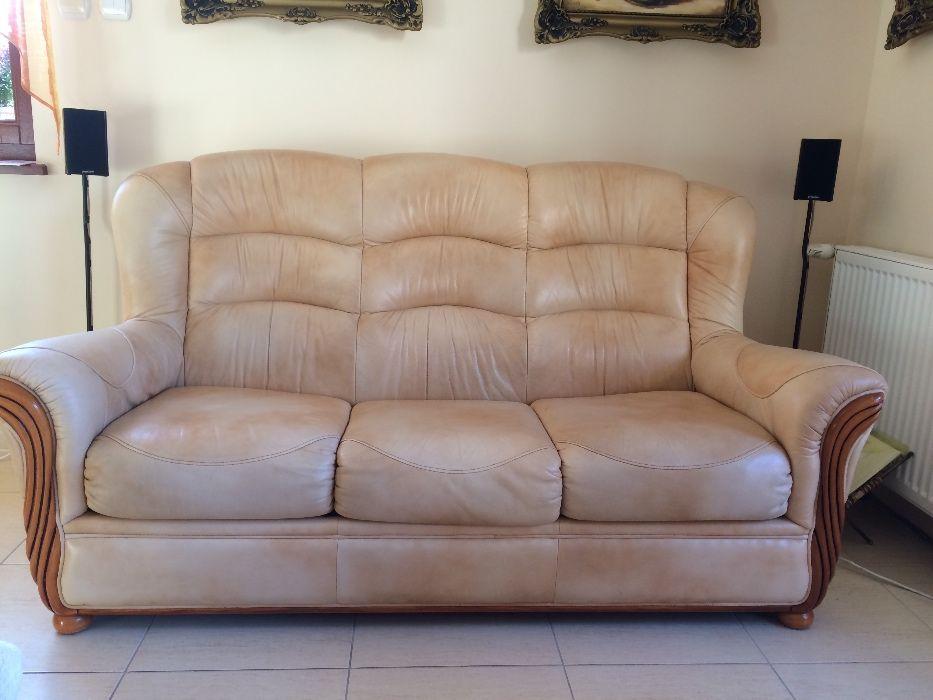 Sofa skórzana z funkcją spania. Stan dobry, skóra włoska cieniowana. Wieliczka - image 1