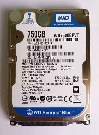 Жесткий диск для ноутбука HDD 2.5 SATA 750 Gb